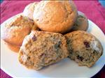 Banana Cranberry Spice Muffins