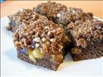 Fig Walnut Gingerbread Bars