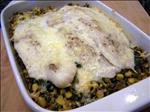 Flounder and Spinach Bake