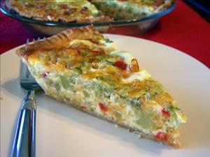 Vegetable Cheddar Quiche