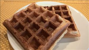 Granola Whole Wheat Waffles