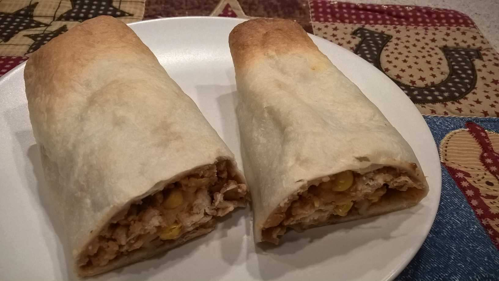 Chicken and Bean Chimichangas