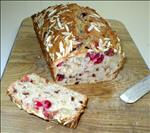 Almond Crusted Cranberry Apple Bread